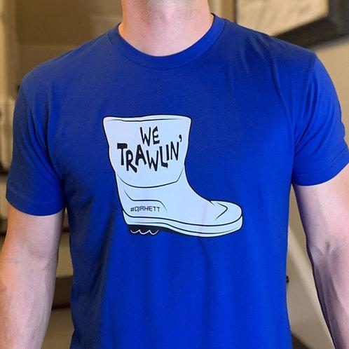 DJ Rhett We Trawlin Blue T-Shirt