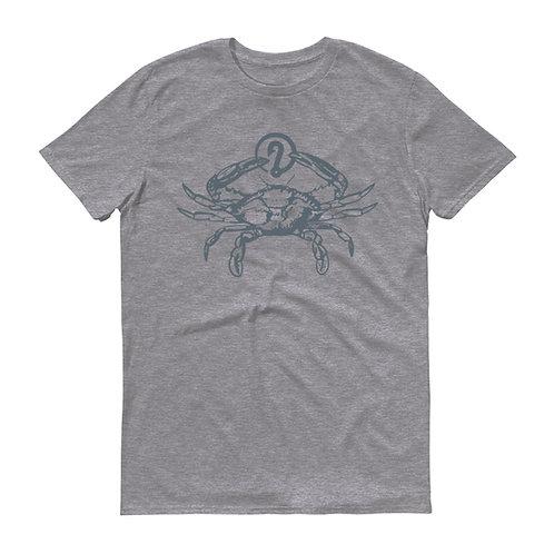 "Y'all Catchin"" ICON with Blue Crab (Grey/Grey) T-Shirt"