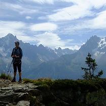 Rhian Climbing in the French Alps