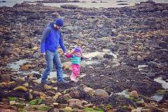 Rhian's Partner and daughter