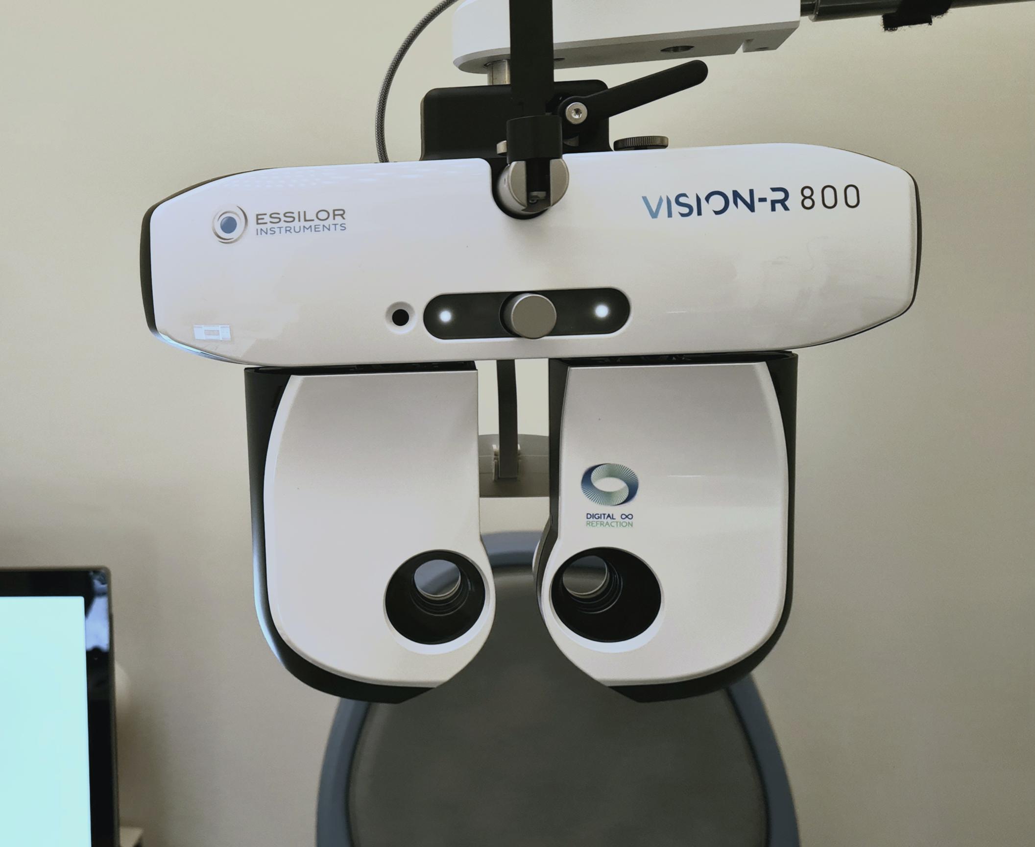 Examen de vue VISIONR précision à 0,01D