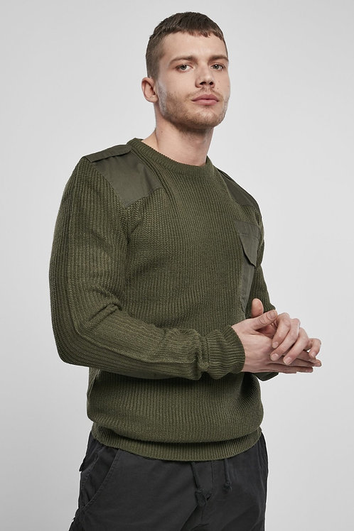 OLIVE BW Pullover (Armed Forces/Military Sweater)