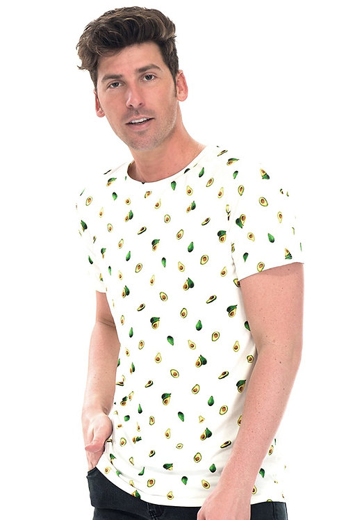 AVOCADO TEE- WHITE