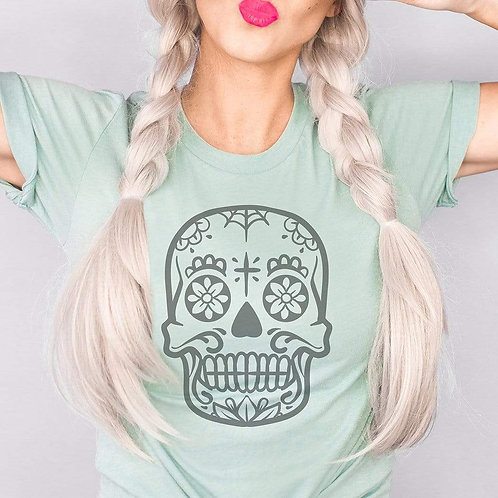 Sugar Skull Halloween Graphic T-Shirt