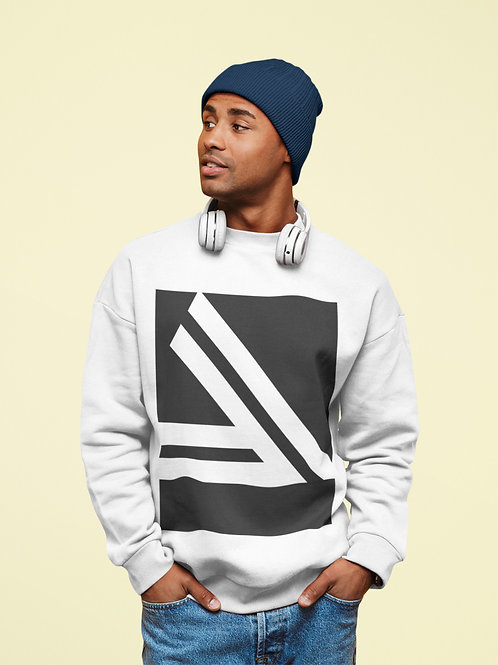 Men's Double Slanted Logo Crewneck Sweatshirt