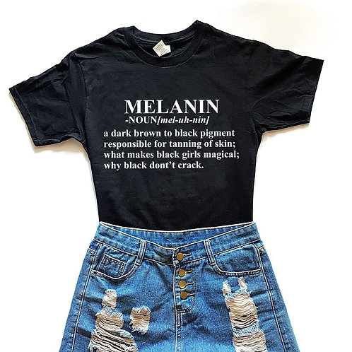 Melanin Definition Printed Tee