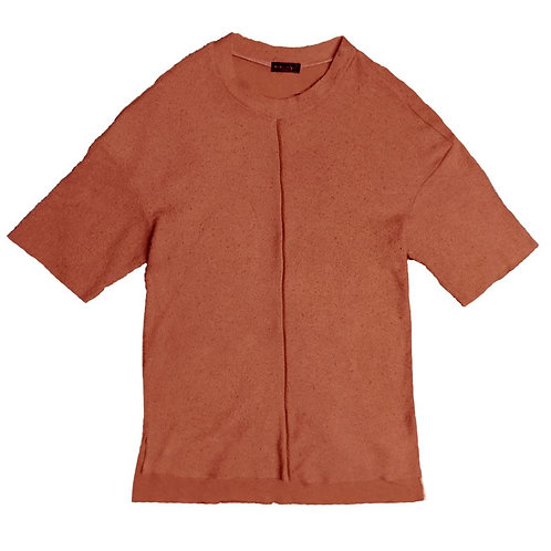 FRENCH TERRY TEE- RUST