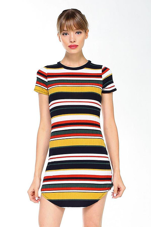 Multi Stripe Body Contour Dress