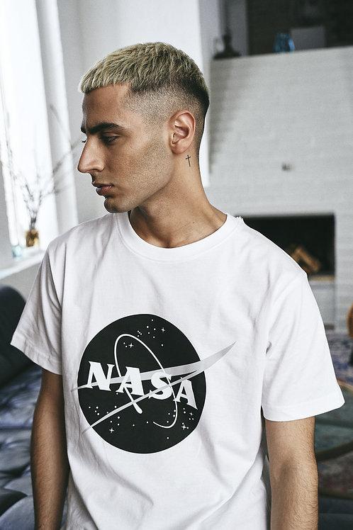 NASA Insignia Dark Logo White Tee