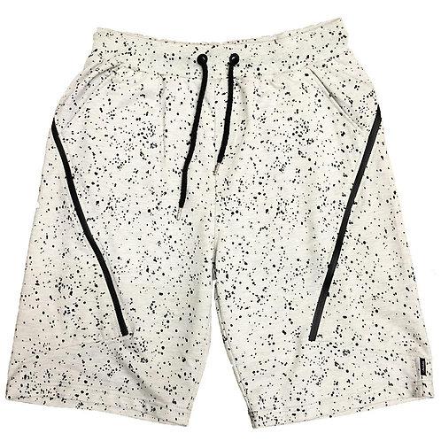 White Splatter Logo Shorts
