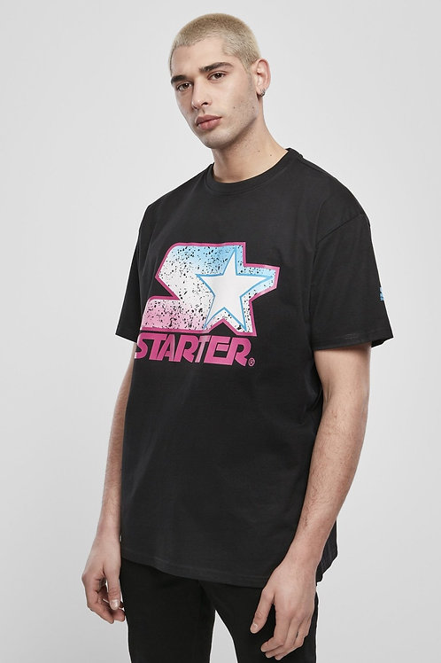 Starter Multicolored Logo Tee - Black/Pink