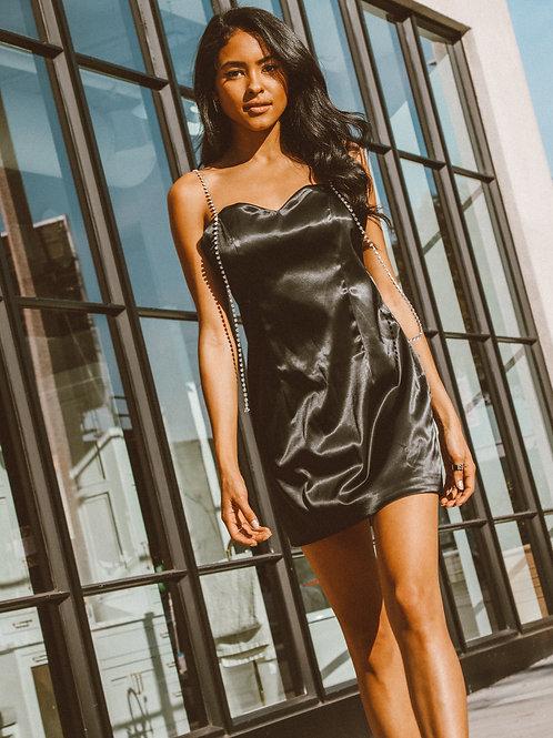 Carlotta Satin Slip Mini Dress