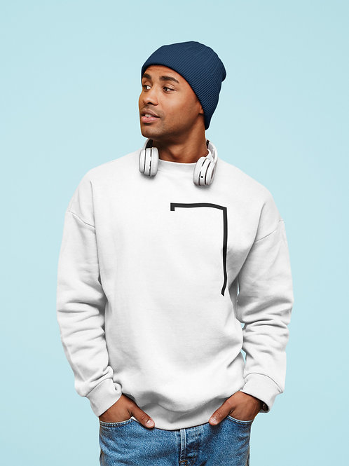 Mens Angled Logo Crewneck Sweatshirt