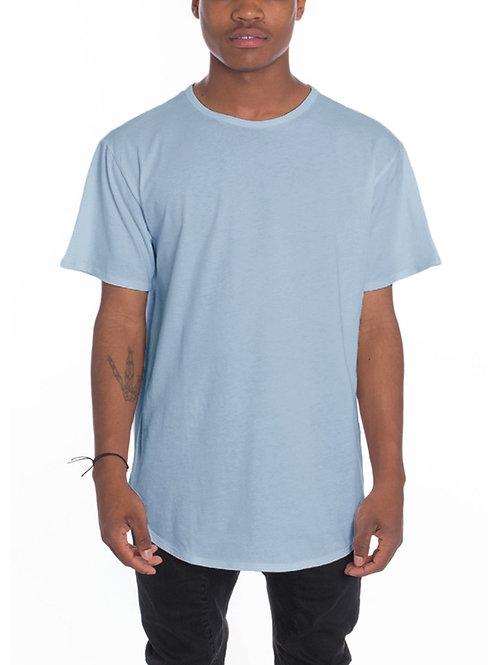 CLASSIC SCALLOP TEE- HEATHER BLUE