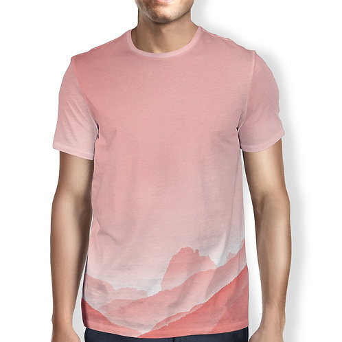 Pink Mountain Men's T-Shirt