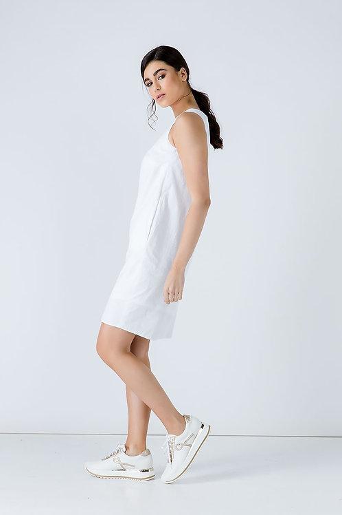 White Cotton Sack Dress