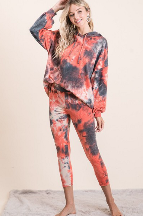 Liliana Hooded Tie Dye Yoga Set