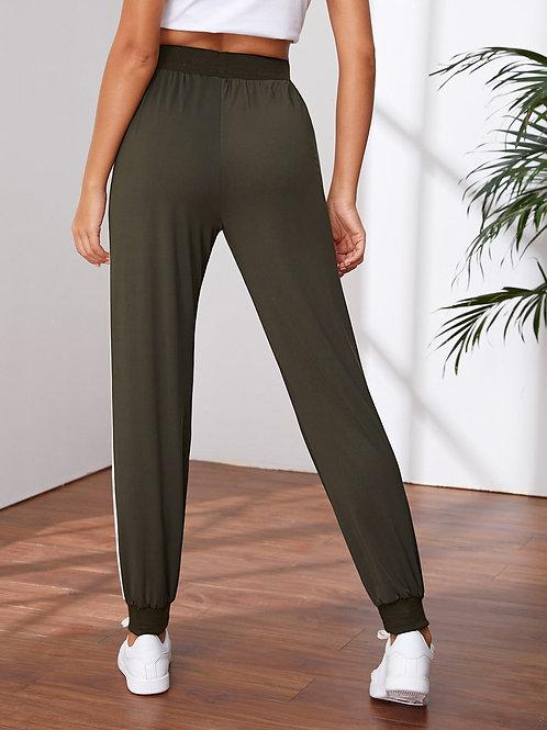 Pocket Side Color Block Sports Pants