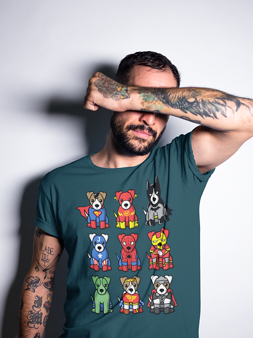 Super Heroes Dogs T-shirt