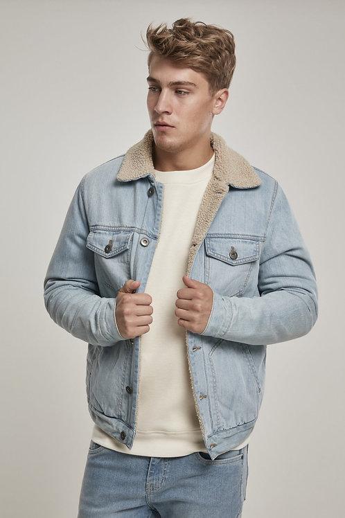 Sherpa Lined Jeans Jacket - Light Denim