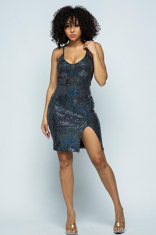 Sally Sequin Midi Dress