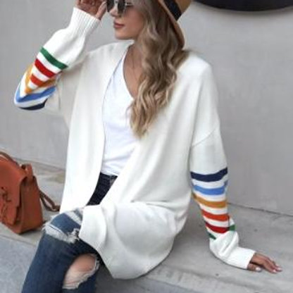 Striped Sleeve Cardigan (more color options)