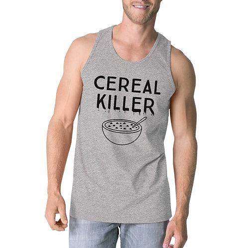 Cereal Killer Mens Grey Tank Top