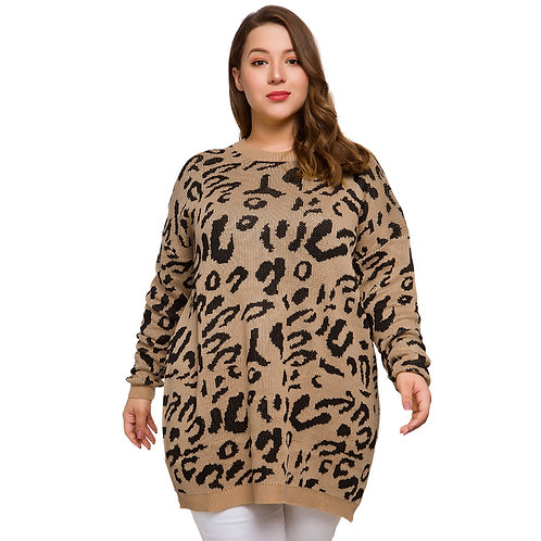 Autumn Winter Plus Size Women Sweaters O