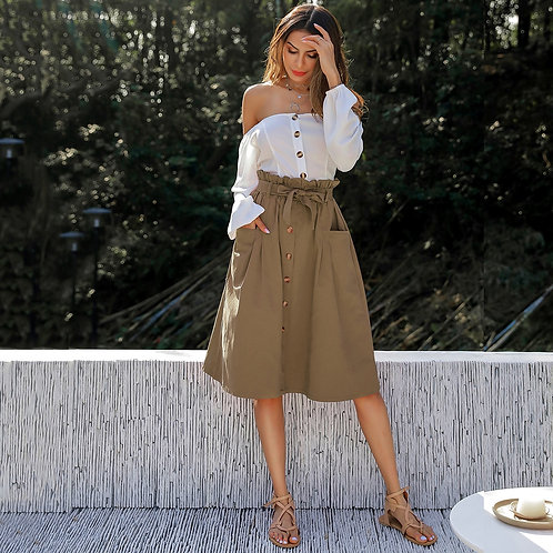 Paper Bag and Buttons Skirt