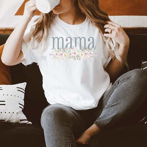 Mama Floral Graphic T-Shirt