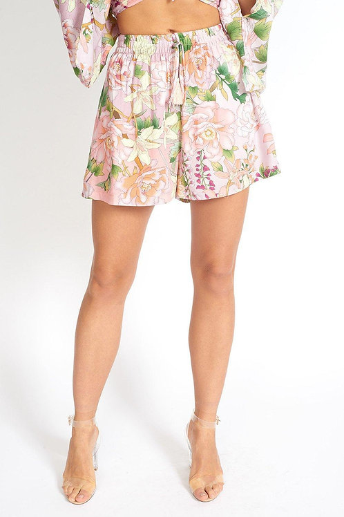 Flowers On My Mind Floral Cloth Shorts