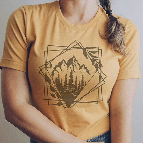 Geometric Triangles Graphic T-Shirt