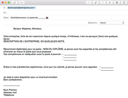 Exemple Mail Accompagnement Candidature Spontanee Dedooddeband