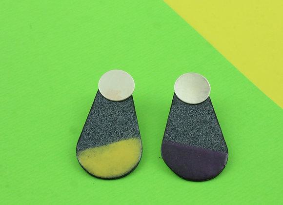 Big drop black speckled/yellow/purple