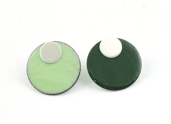 Small circle forest green/pastel green