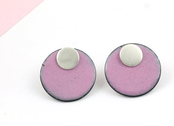 Small circle pink/black speckled