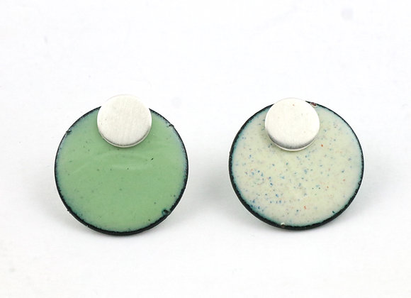 Small circle mint green/cream