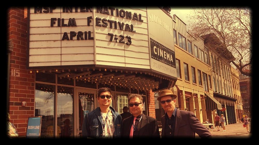 With Daniel Navvite(Left) and Philip Harder (Right) in Minneapolis St.Paul International Film Festival.