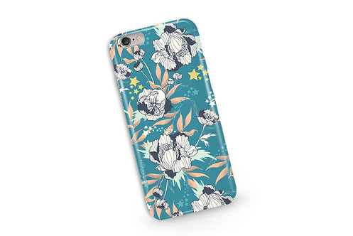 Stars and Stripes Phone Case in Teal