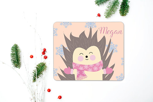 Hedgehog Personalised Place Mat
