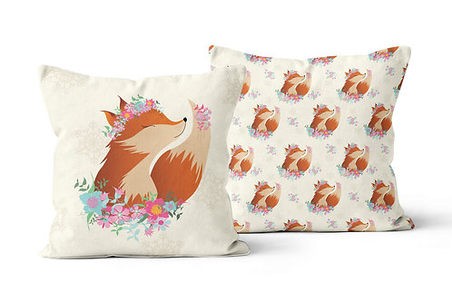 Flower Fox Cushion
