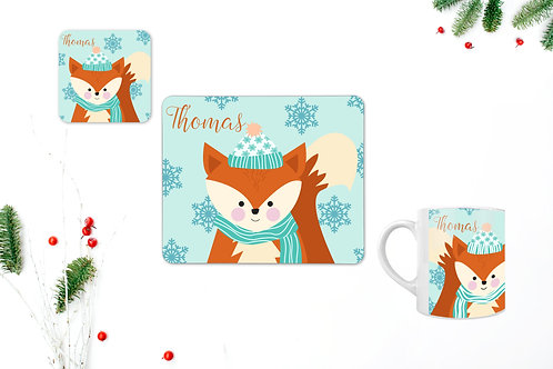 Fox Personalised Table Set