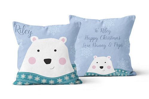 Polar Bear Personalised Cushion