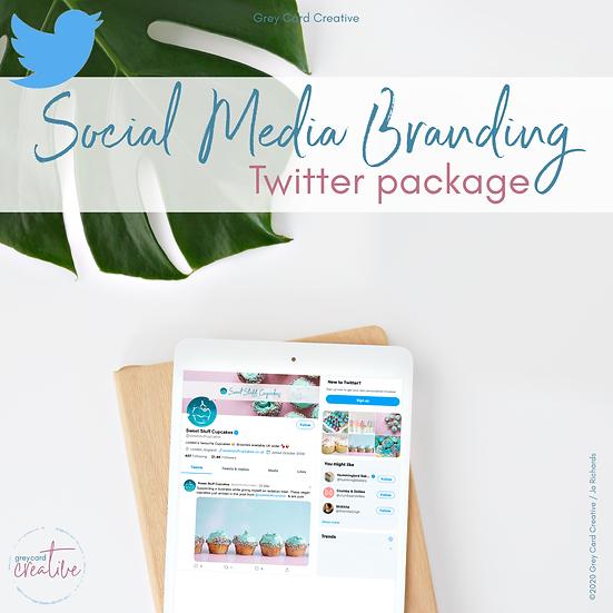 Twitter Social Media Branding Package