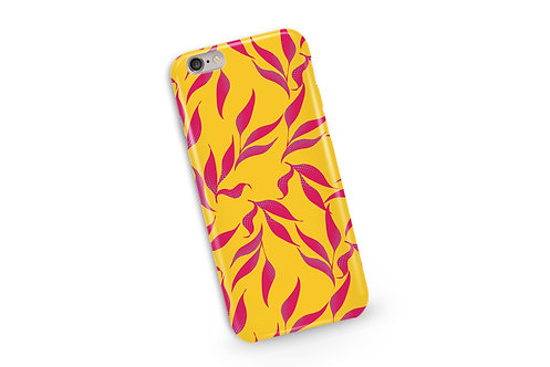 Tropical Leaves Phone Case in Mustard