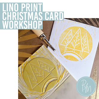 Lino Print Christmas Card Workshop