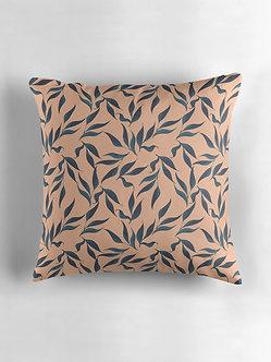 Tropical Leaves Cushion in Peach