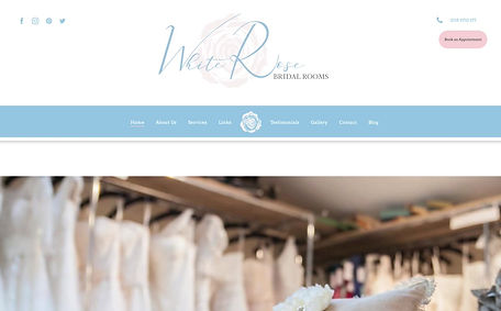 White Rose Bridal Rooms Website Design