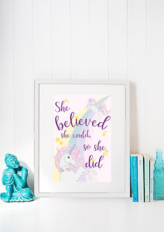 She Believed She Could A4 Art Print