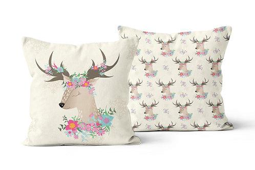 Flower Deer Cushion